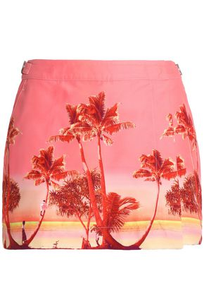 ORLEBAR BROWN Printed canvas mini skirt