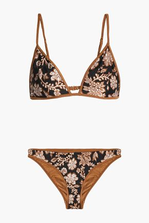 ZIMMERMANN Printed triangle bikini