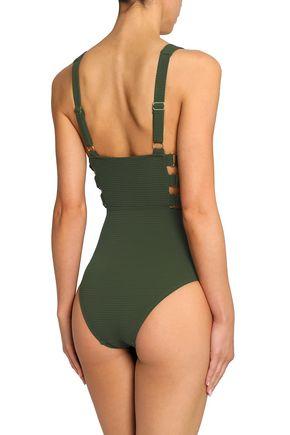 ZIMMERMANN Embellished cutout swimsuit