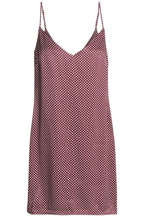 ZIMMERMANN Polka-dot satin mini dress