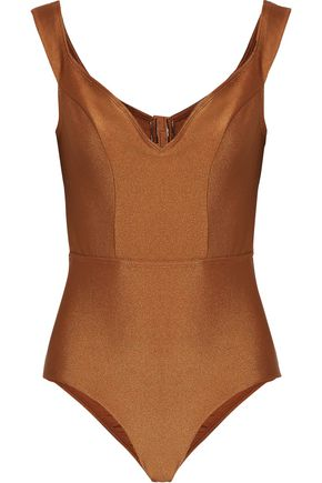 ZIMMERMANN Tulsi metallic cutout swimsuit