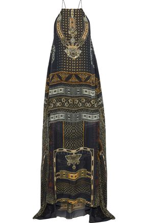 CAMILLA For The Love Of Lhasa embellished printed silk-chiffon maxi dress
