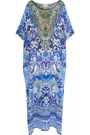 CAMILLA Guardian Of Secrets crystal-embellished printed silk crepe de chine kaftan