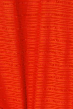 JETS AUSTRALIA by JESSIKA ALLEN Lattice-trimmed cutout striped halterneck swimsuit