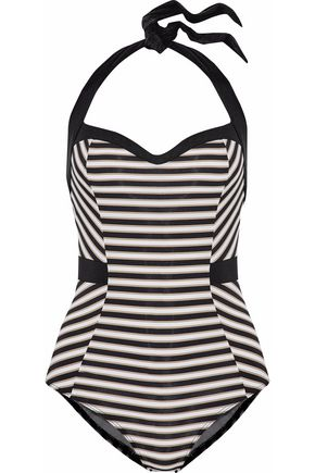 JETS AUSTRALIA by JESSIKA ALLEN Striped halterneck swimsuit