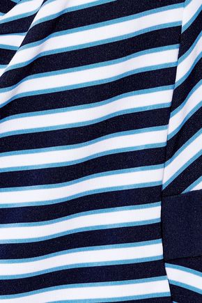 JETS AUSTRALIA by JESSIKA ALLEN Cutout striped halterneck swimsuit