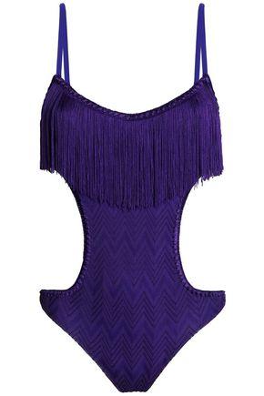 MISSONI MARE Mare cutout crochet-knit swimsuit