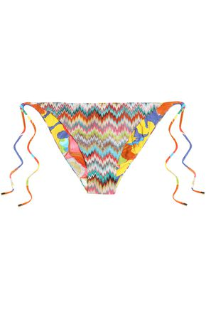 MISSONI MARE Multicolor crochet-knit bikini briefs
