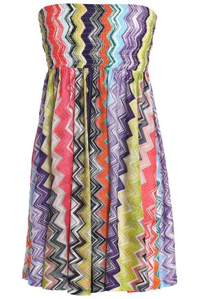 MISSONI MARE Strapless crochet-knit mini dress