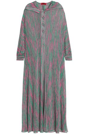 MISSONI MARE Pointelle-knit hooded coverup