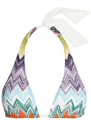 MISSONI MARE Knitted triangle bikini top
