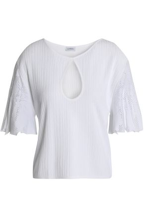LA PERLA Lattice-trimmed stretch-knit top