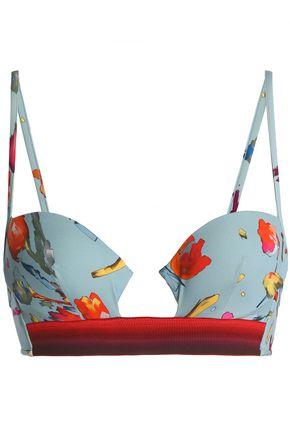 LA PERLA Floral-print underwire bikini top