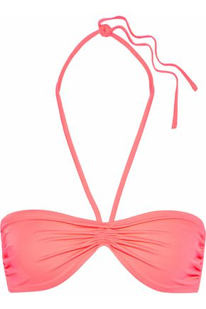 SOLID & STRIPED The Claire ruched halterneck bikini top
