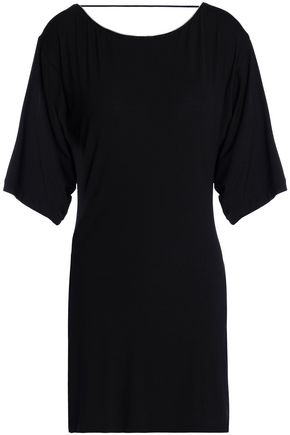 LA PERLA Cutout silk-blend jersey mini dress