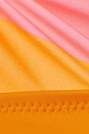 SOLID & STRIPED The Morgan striped triangle bikini top