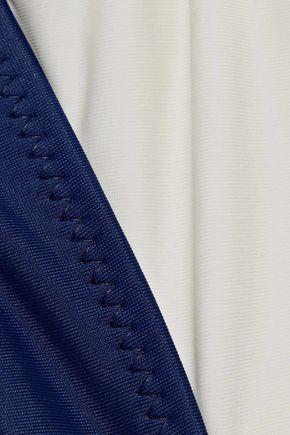 SOLID & STRIPED Two-tone triangle bikini top