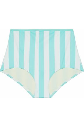 SOLID & STRIPED The Brigitte striped high-rise bikini briefs