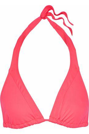 SOLID & STRIPED The Erin neon triangle bikini top