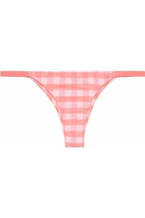 SOLID & STRIPED The Mia gingham low-rise bikini briefs