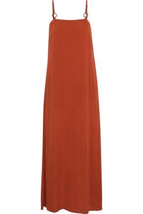 SOLID & STRIPED + STAUD Calico gauze maxi dress