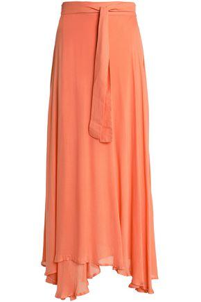 BOWER Asymmetric mousseline wrap skirt