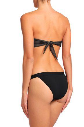 NORMA KAMALI Twist-front mesh bandeau bikini top