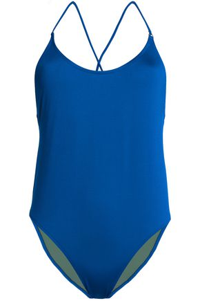 BOWER Open-back swimsuit