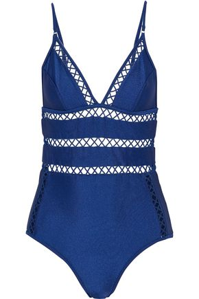 ZIMMERMANN Paradiso lattice-trimmed swimsuit