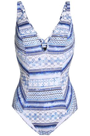 JETS AUSTRALIA by JESSIKA ALLEN Lattice-trimmed printed swimsuit