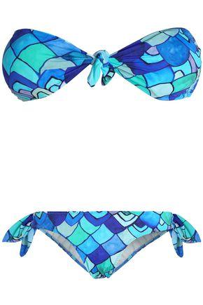 ISOLDA Printed bandeau bikini