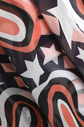 BOWER Printed voile skirt