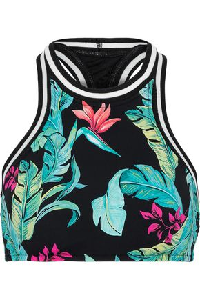 SEAFOLLY Jungle Out There printed bikini top
