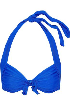 SEAFOLLY Knotted halterneck bikini top