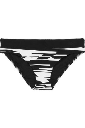 SEAFOLLY Hipster printed low-rise bikini briefs