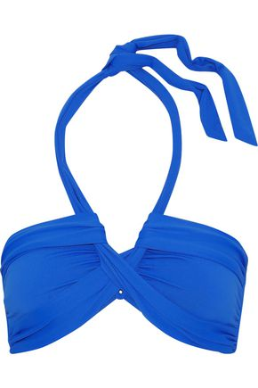 SEAFOLLY Gathered halterneck bikini top