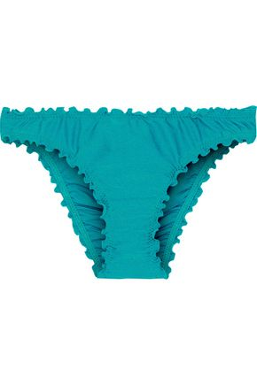 SEAFOLLY Shimmer ruffle-trimmed low-rise bikini briefs