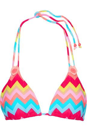 SEAFOLLY Printed triangle bikini top
