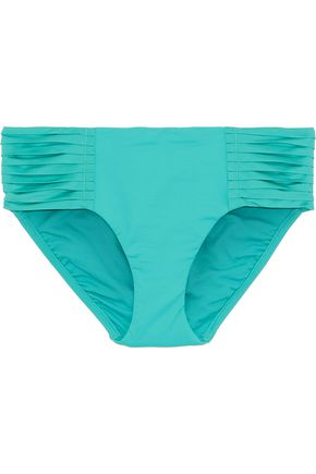 SEAFOLLY Retro pleated mid-rise bikini briefs