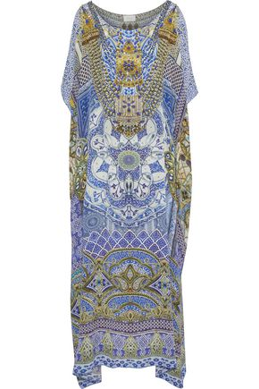 CAMILLA It Was All A Dream embellished printed silk crepe de chine kaftan