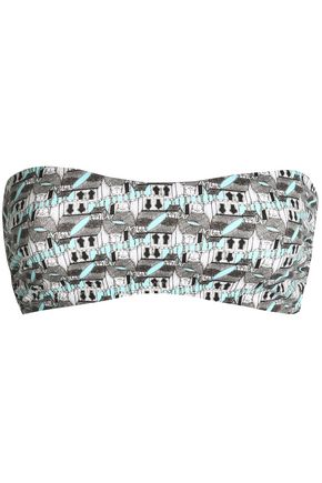 I.D. SARRIERI Printed bandeau bikini top