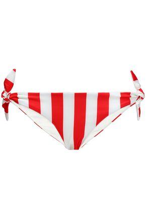 SOLID & STRIPED Striped low-rise bikini briefs