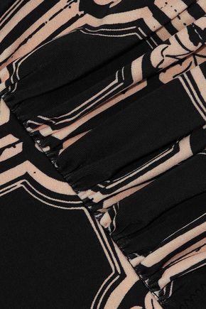 DEREK LAM 10 CROSBY Ruched printed high-rise bikini briefs