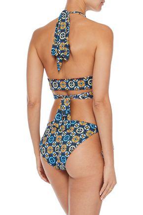 DEREK LAM 10 CROSBY Reversible printed low-rise bikini briefs