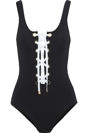 DEREK LAM 10 CROSBY Lace-up swimsuit