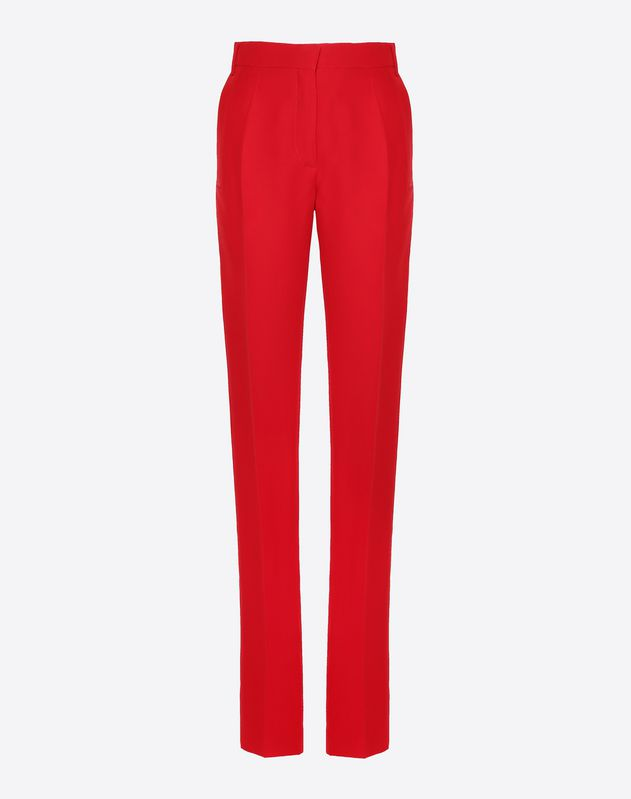 Silk Wool Cady Trousers