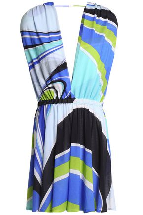 EMILIO PUCCI Printed cotton-blend woven coverup