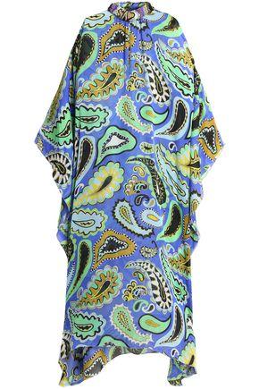 EMILIO PUCCI Embellished printed silk-voile kaftan