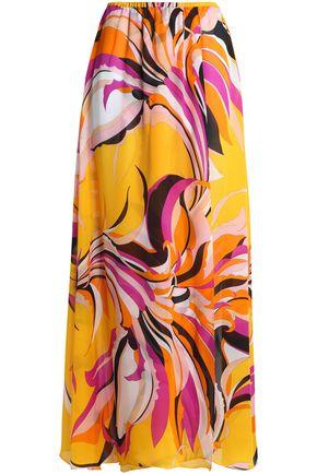 EMILIO PUCCI Floral-print silk skirt