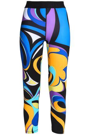 EMILIO PUCCI Cropped printed stretch leggings